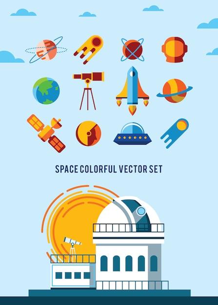 Espaço vintage e fundo do astronauta. Vetor grátis