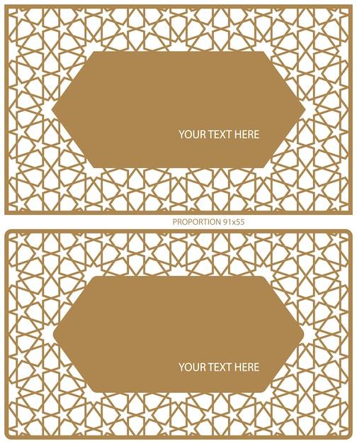 Espaços em branco para cartões de visita. Vetor Premium