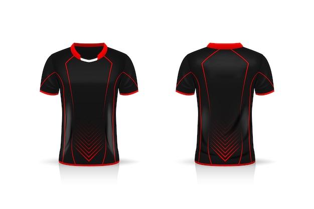 Especificação futebol esporte camiseta camisa design de ilustração de modelo Vetor Premium