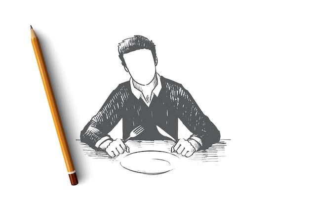 Esperando ilustração do conceito Vetor Premium
