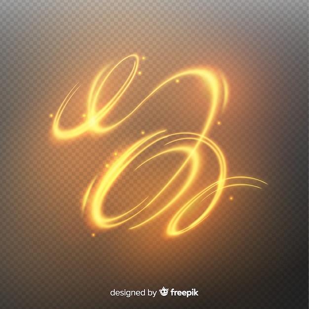 Espiral brilhante dourado Vetor grátis