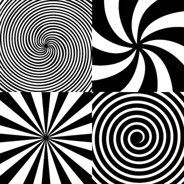 Espiral psicodélica hipnótica, giro, vórtice. Vetor Premium