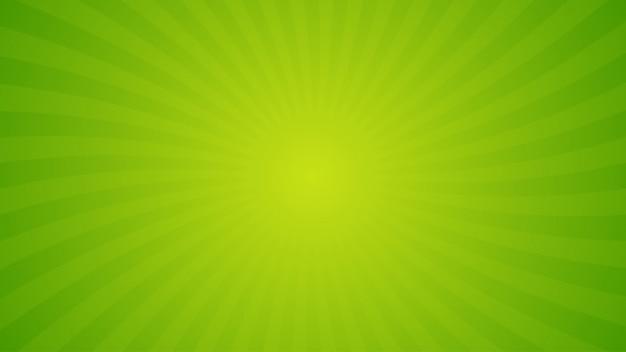 Espiral verde brilhante raios de fundo. Vetor Premium