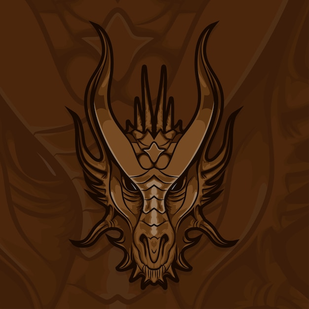 Esport gamer logo dragon Vetor Premium