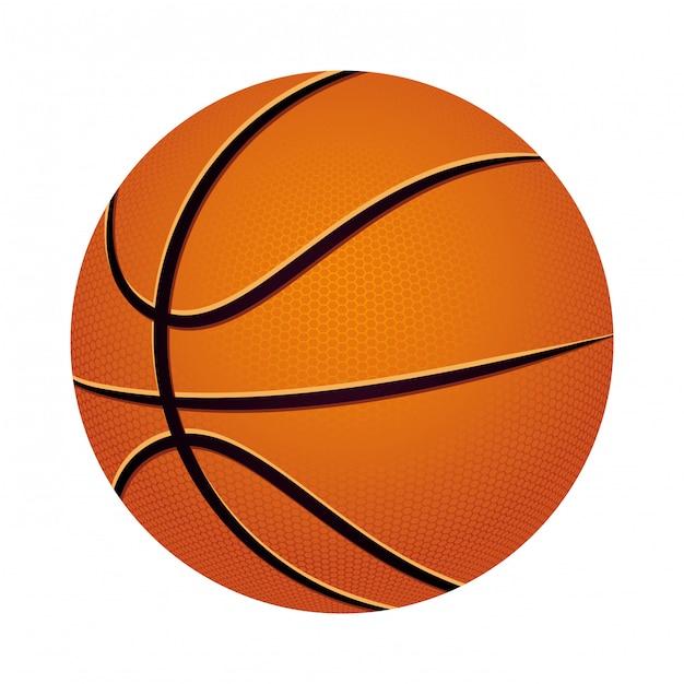 Esporte de basquete Vetor Premium