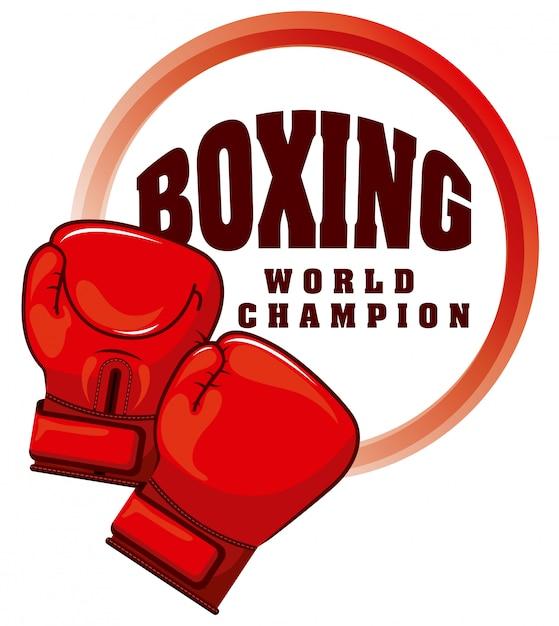 Esporte de boxe Vetor Premium