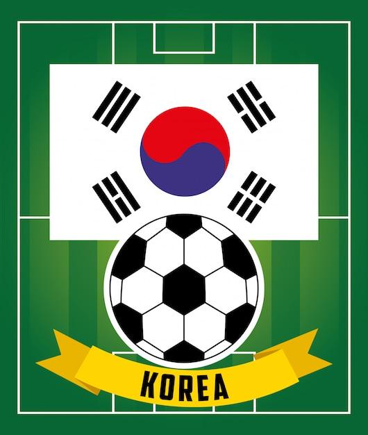 Esporte de futebol de futebol Vetor Premium