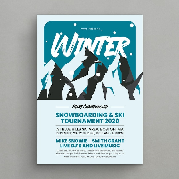Esporte de inverno Vetor Premium
