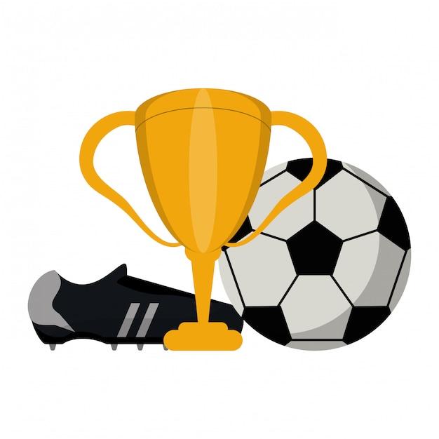 Esporte de jogo de futebol Vetor Premium