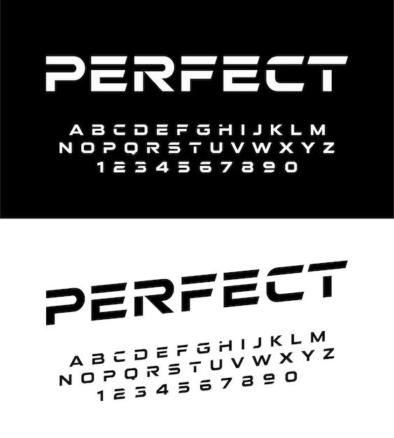 d42b621ae Esporte moderno alfabeto fontes e números. fonte de tipografia ...