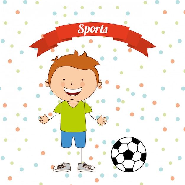 Esportes de crianças Vetor Premium