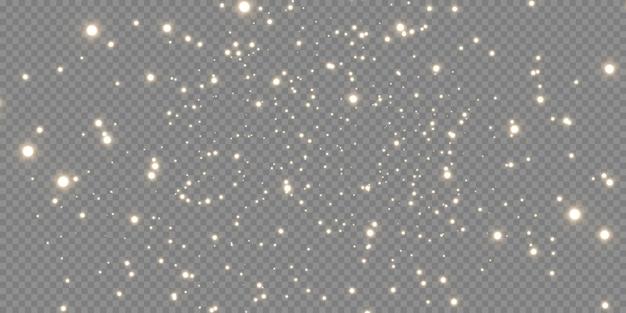Espumante pó mágico. sobre um fundo preto e branco estrutural. abstrato de celebração feito de partículas de poeira brilhantes douradas. efeito mágico. estrelas douradas. Vetor Premium