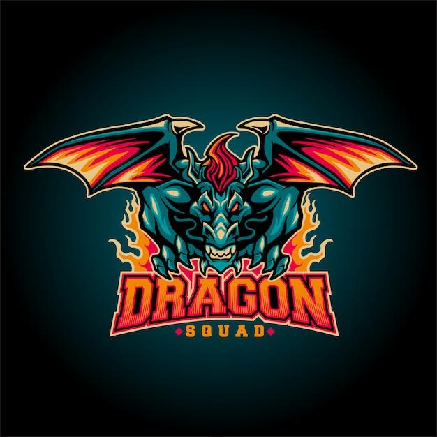 Esquadrão de dragões Vetor Premium