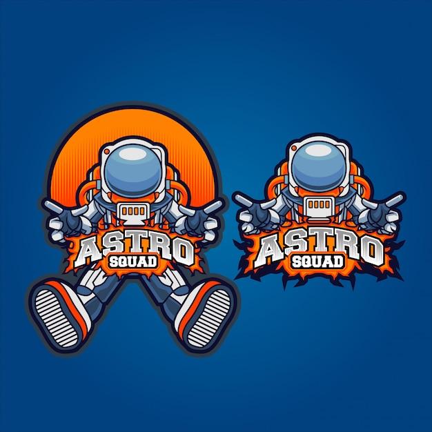 Esquadrão de jogo de astronauta Vetor Premium