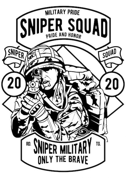 Esquadrão sniper Vetor Premium