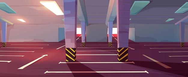 Estacionamento subterrâneo de desenhos animados Vetor grátis