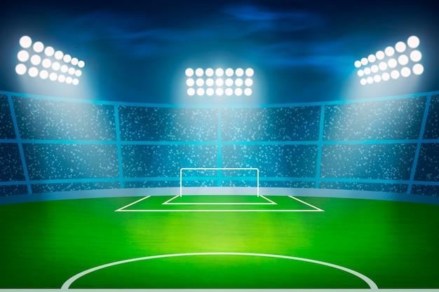 Estádio de futebol americano realista Vetor Premium