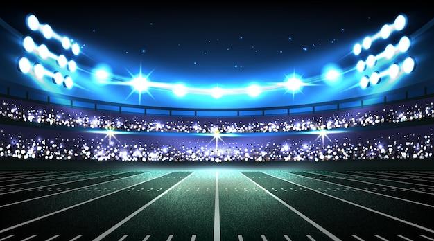 Estádio de futebol americano realista Vetor grátis