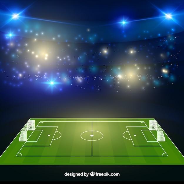 Estádio de futebol em estilo realista Vetor grátis