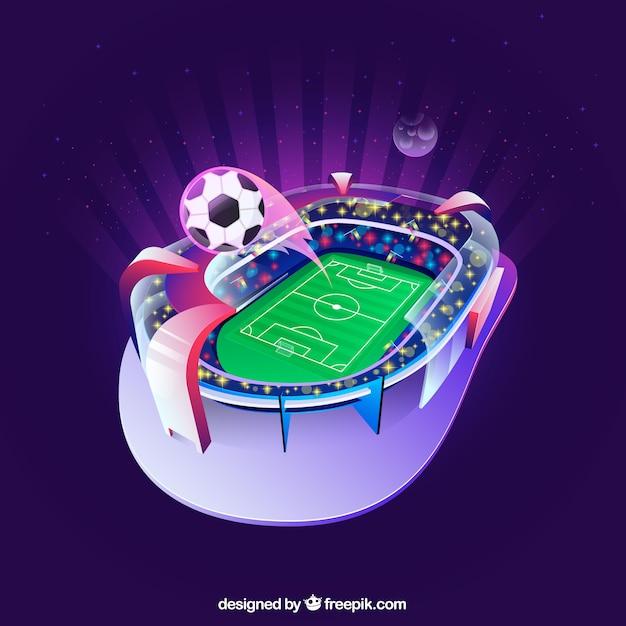 Estádio de futebol no estilo isométrico Vetor grátis