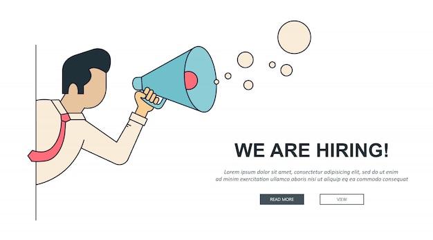 Estamos contratando banner Vetor Premium
