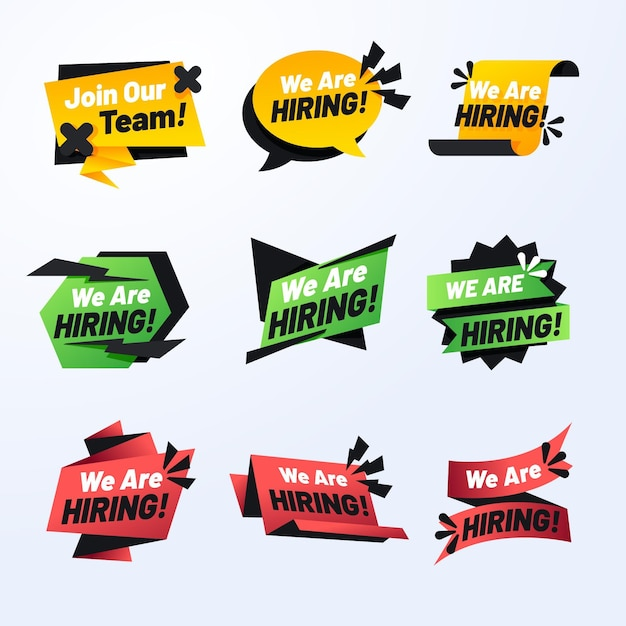 Estamos contratando - conceito de banners Vetor grátis