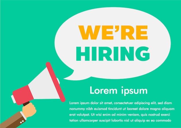 Estamos contratando encontrar um emprego Vetor Premium