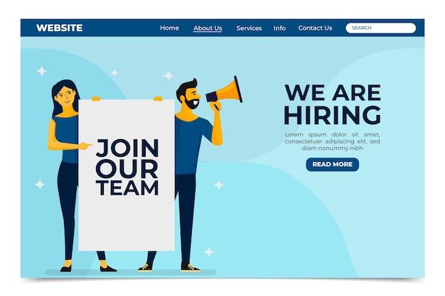 Estamos contratando - landing page Vetor Premium