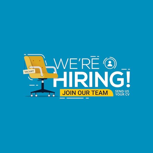 Estamos contratando recrutamento de empresas vagas Vetor Premium