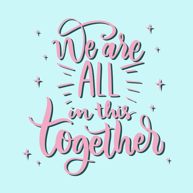 Estamos todos juntos nesse conceito Vetor grátis