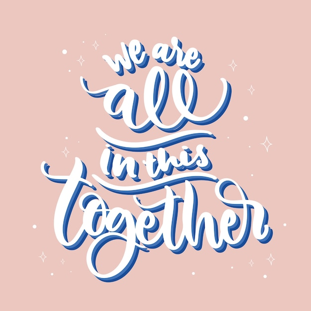 Estamos todos juntos neste tema Vetor grátis