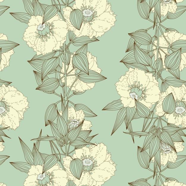 Estampa floral Vetor grátis