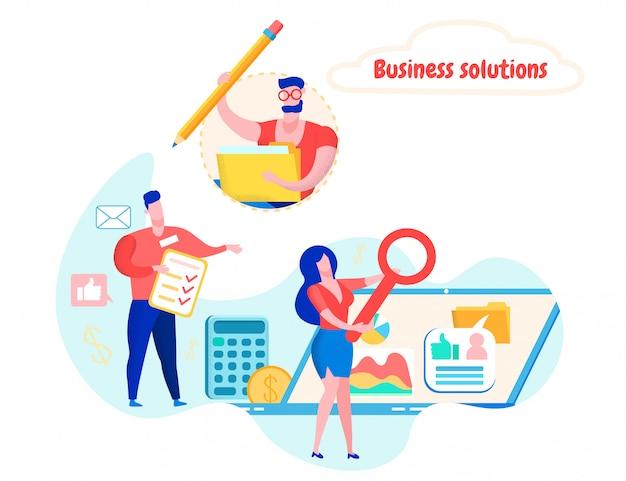Estatísticos de equipe realizando auditoria financeira. Vetor Premium