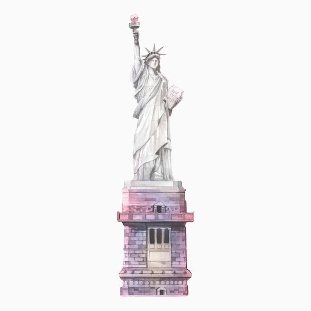 Estátua da liberdade Vetor grátis