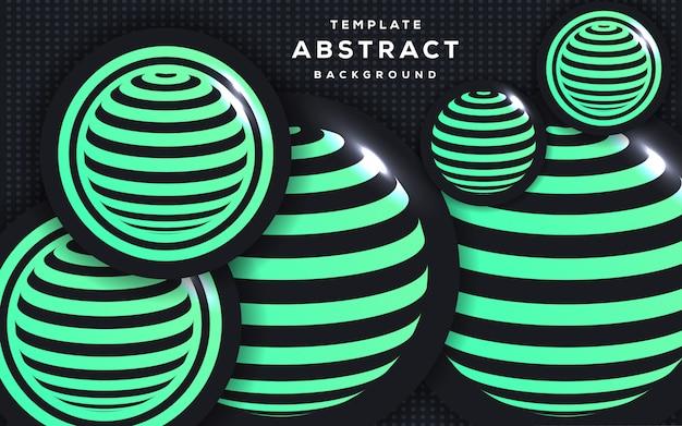 Estilo 3d abstrato com fundo de esfera Vetor Premium