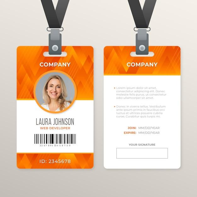 Estilo abstrato do cartão de identificação Vetor Premium