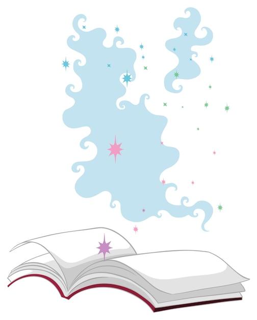Estilo cartoon de livro mágico isolado Vetor grátis