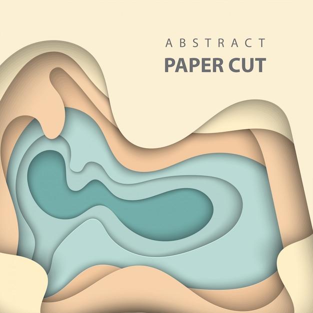 Estilo de arte de papel abstrato 3d, layout de design Vetor Premium