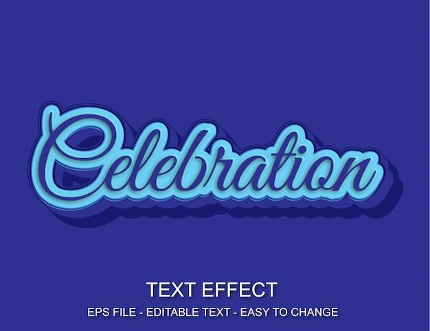 Estilo de celebração de efeito de texto editável Vetor Premium