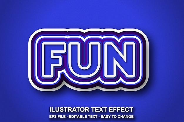 Estilo de cor azul de efeito de texto editável Vetor Premium