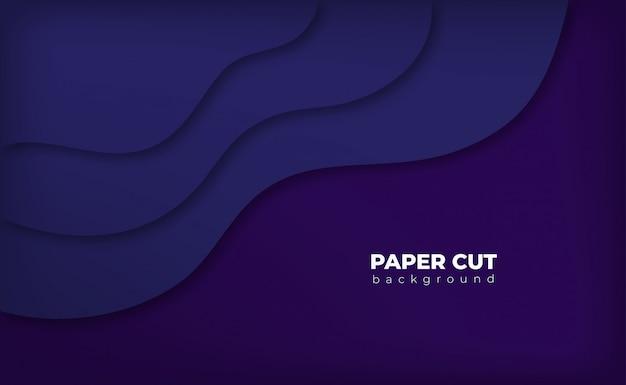 Estilo de corte de papel de fundo roxo Vetor Premium
