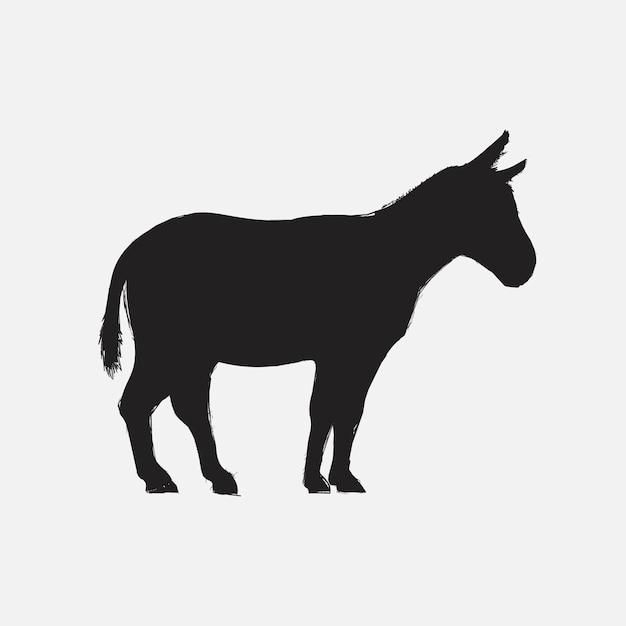 Estilo de desenho de ilustração de burro Vetor grátis