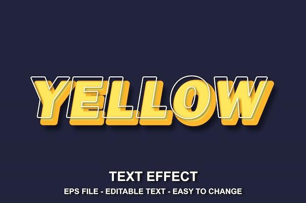 Estilo de efeito de texto amarelo Vetor Premium