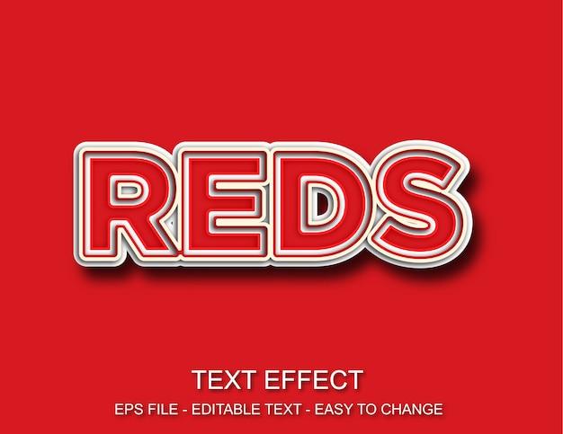 Estilo de efeito de texto em vermelho Vetor Premium