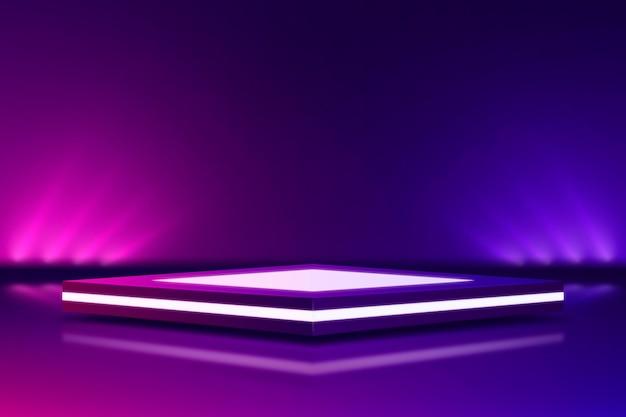 Estilo de fundo abstrato com luzes de néon Vetor Premium