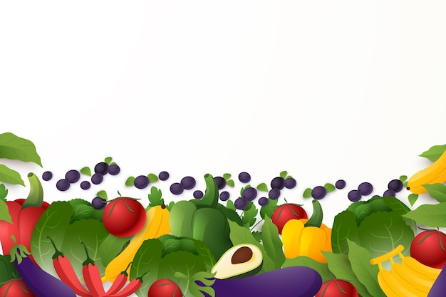 Estilo de fundo de frutas e legumes Vetor grátis
