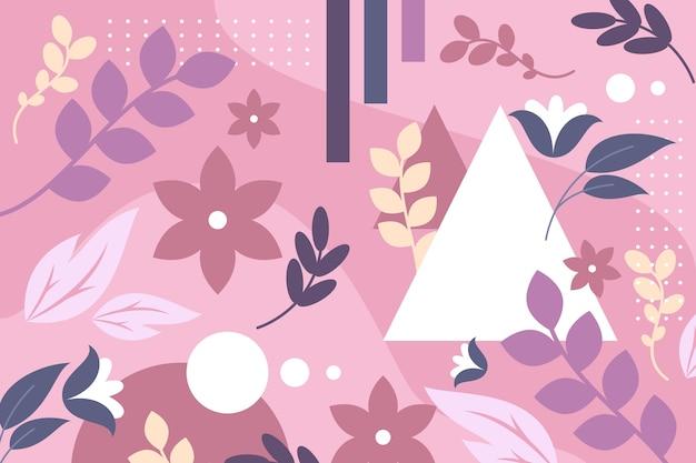 Estilo de fundo floral abstrato design plano Vetor grátis