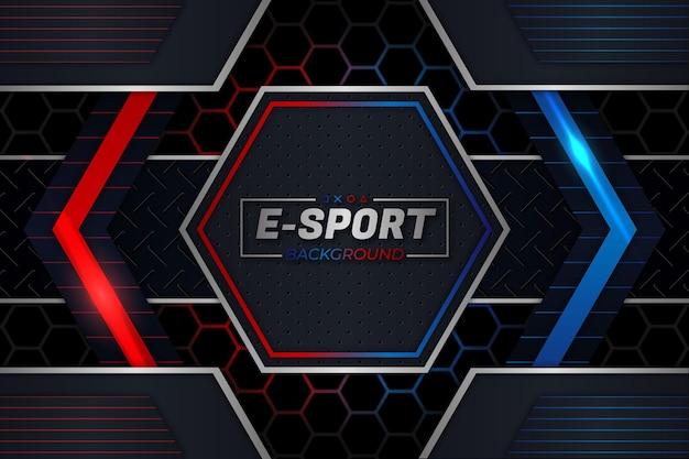 Estilo de fundo vermelho e azul de e-sports Vetor Premium