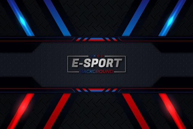 Estilo de fundo vermelho e azul do e-sports Vetor Premium