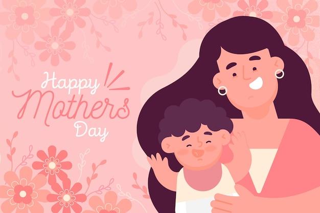 Estilo de ilustração de dia das mães Vetor grátis